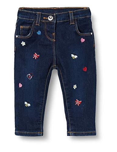 Chicco Baby-Mädchen Pantaloni Lunghi Jeans, Blu, 68