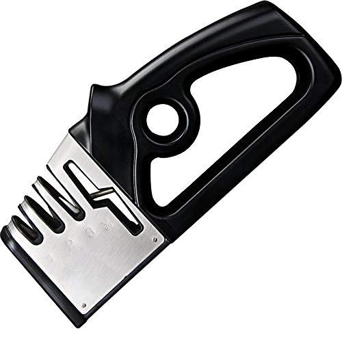 YLXD Messerschärfer, 4 in 1 Manuelle Messerschleifer, Profi küchenmesser Schärfer Scherenschärfer für Scher, Knife Sharpener für Küche, Home usw