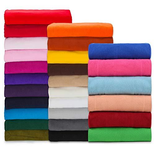 Tissu polaire, matériau de qualité, testé et approuvé internationalement pour sa finition anti bouloche, moyen, 320 g/cm2 Beau tissu pour vêtements, décoration d'intérieur et artisanat., blanc, 1 m