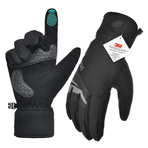 Winter Gloves for Men Women, Hiking Gloves Rainproof Windproof Gloves Winter Workout Gloves for Hiking, Running, Driving