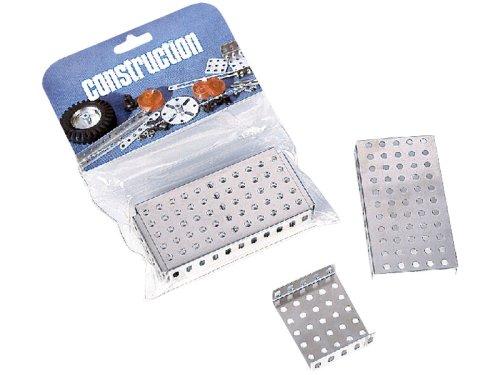Eitech GmbH C107-Piastre Angolari, Colore Multicolore, Set di integratori Eitech-Piastre di Metallo Lisce, C107