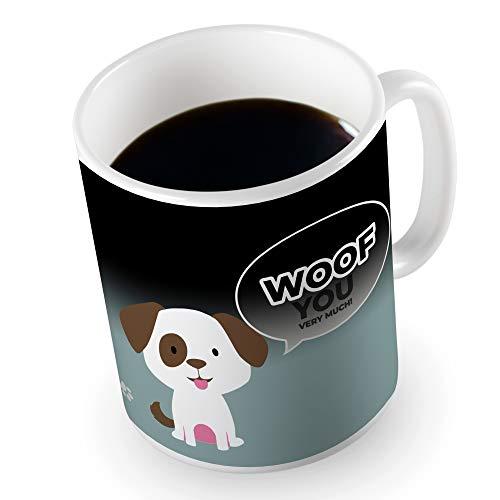 Froster Taza mágica - Perrito, Taza Sensible al Calor que Cambia de Color, Taza Cachorro con Mensaje de Amor, Regalo