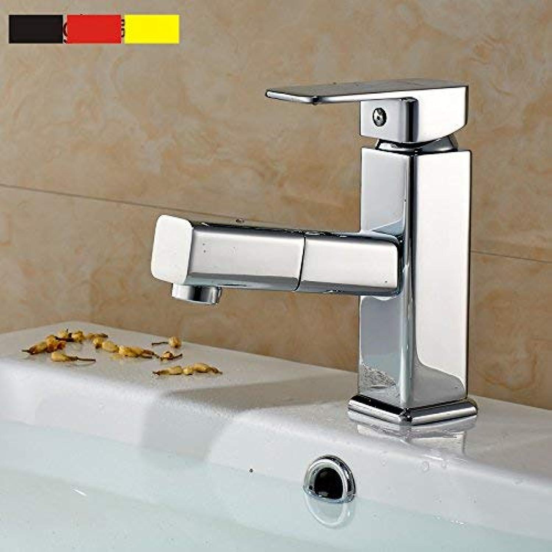 Oudan Full copper faucet basin faucet full copper faucet pull type basin faucet,B (color   C)