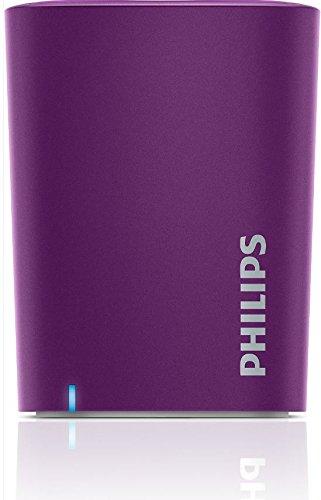PHILIPS Wireless Mini Altavoz Bluetooth portátil, Violeta BT-100V/27