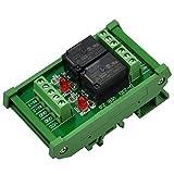 ELECTRONICS-SALON montaje en carril DIN 2 SPDT Relé de potencia del módulo de interfaz, ...