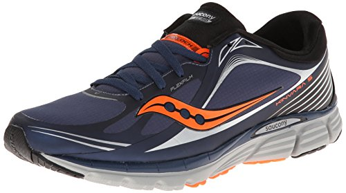 Saucony Men's Kinvara 5 Runshield Running Shoe,Navy/Viziorange,10 M US
