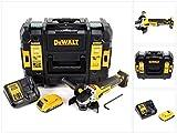 DeWalt DCG 405D118V 125mm Brushless batería Amoladora de ángulo + 1x 2Ah Batería + Cargador en Tstak–Maletín de herramientas