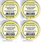 Bath and Body Works 4 Pack Champagne Toast Scentportable Fragrance Refill. 0.2 Oz