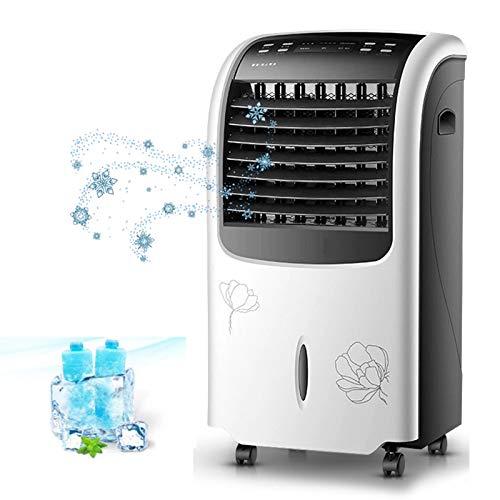 SWSPORT Enfriador De Aire, Aire Acondicionado Portatil Y Climatizador, Acondicionador De Aire Móvilevaporativo Ventilador Humidificador Purificador De Aire, 3 Velocidades, para Casa Y Oficina