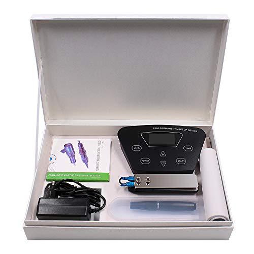 Máquinas de Tatuaje BIOMASER® Incluye una Fuente de Alimentación Digital Inteligente y una Pluma de Tatuaje de Maquillaje Permanente con 10 piezas Agujas Practicar la Pieldel Pedal