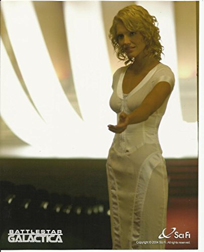 Battlestar Galactica Tricia helfer as Six Final Five White Dress 8 x 10 Photo