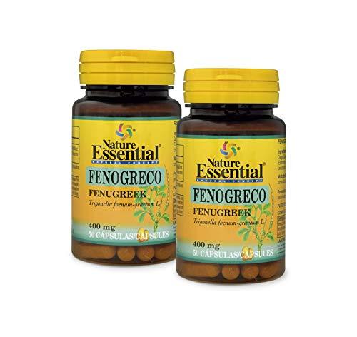 NATURE ESSENTIAL   Fenogreco 400 mg   50 Cápsulas. (Pack 2 unid.)