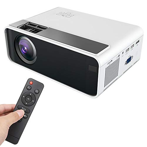 Mini draagbare projector 4K Bluetooth LCD-videoprojector 720P Fysieke resolutie WiFi Home Theater Beamer voor Android Ondersteuning 1080P HDMI/USB/HD/SD/AV/VGA, Home Media Player (EU)