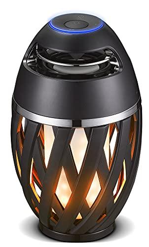 Luceco LED Flammeneffekt Bluetooth-Lautsprecher mit LED-Flammeneffekt. Schwarz