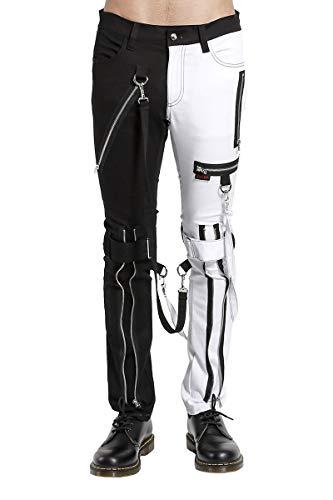 Tripp Split Leg Bondage Pants (Black/White)