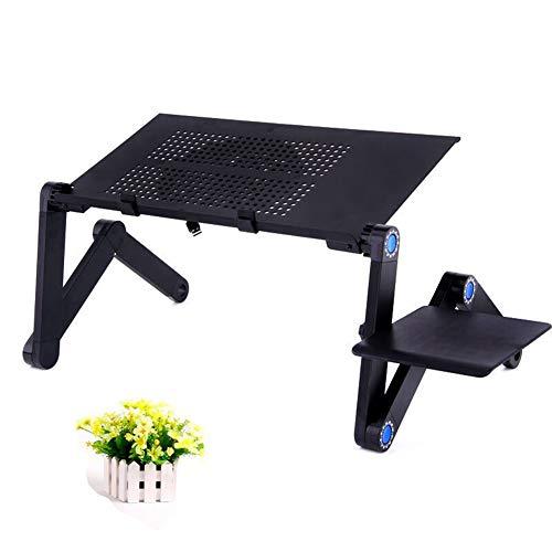 Mesa de ordenador portátil para cama, mesa de regazo, mesa para ordenador portátil, bandeja ajustable para cama, escritorio plegable para computadora portátil y escritura en sofá y sofá