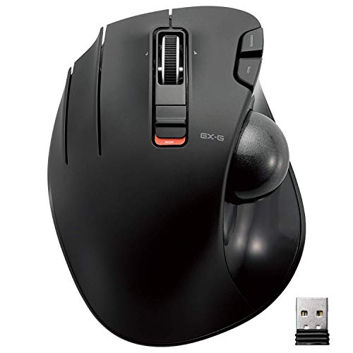 ELECOM Left-Handed 2.4GHz Wireless Thumb-operated Trackball Mouse, 6-Button Function with Smooth Tracking, Precision Optical Gaming Sensor (M-XT4DRBK) (Renewed)