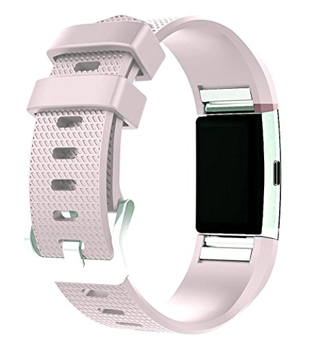 ZSZCXD for Fitbit Charge 2 Bands, New Bracelet Strap Replacement Band Wristband with Secure Silicone Fasteners Metal Clasps for Fitbit Charge 2 (No Tracker) (Style A:Lilac, 6.7-8.1 Inches Wrist)