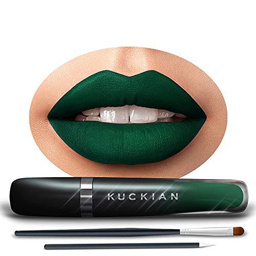 FORBIDDEN FOREST, by Kuckian - Dark Green Lipstick - Halloween Matte Green Lipstick - Long Lasting 12-Hour Vegan & Cruelty Free