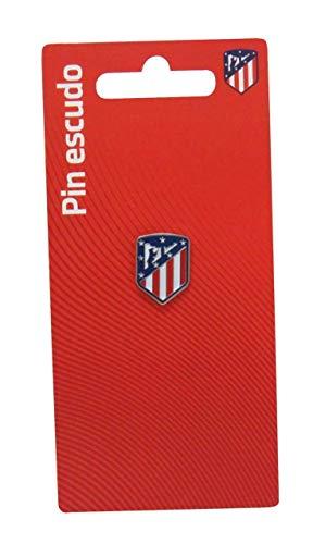 C Y P Pin Escudo Lacado en Color Atlético de Madrid, (P-14-