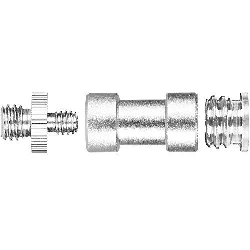 "3 Pieces 1/4"" 3/8"" Tripod Screw Converter Adapter Flash Light Stand Connector Camera Spigot for DSLR Camera,Tripod,Shoulder Rig,Lighting Equipment,Camera Cage,LED Panel,GoPro"