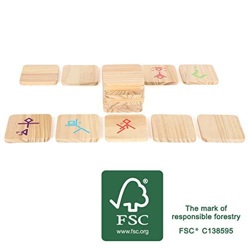 Small Foot 12028 Tanzspiel Active aus FSC 100%-zertifiziertem Holz, Bewegungsspiel für Erwachsene und Kinder Spielzeug, Mehrfarbig