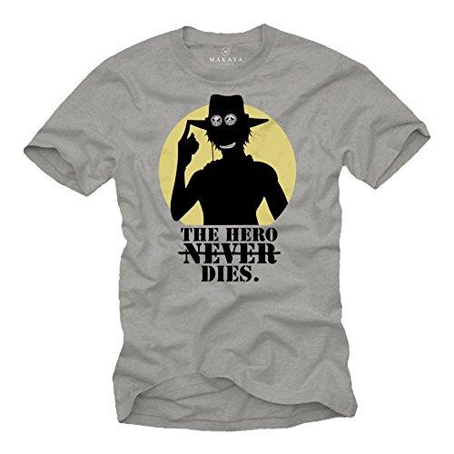 Camiseta Anime Hombre - El superhéroe Muere - T-Shirt Manga Corta - One Regalos Frikis Originales S