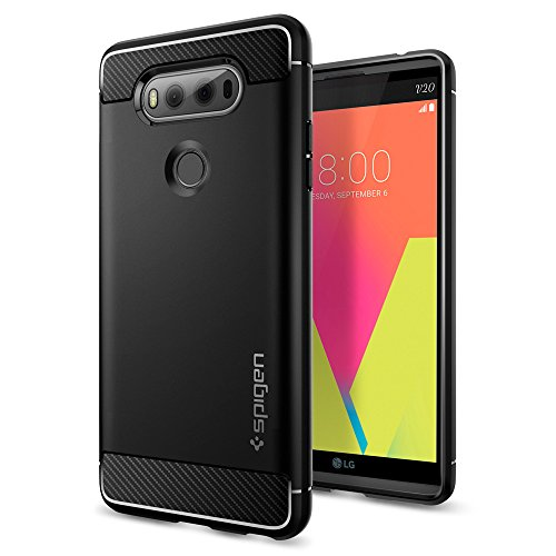 Spigen Rugged Armor Designed for LG V20 Case (2016) - Black