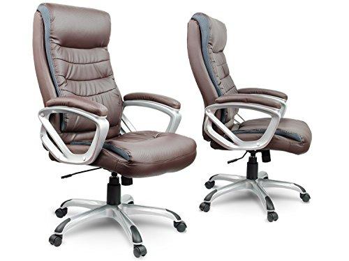 Bürostuhl Chefsessel Drehstuhl Kunstleder - braun Eago EG-226
