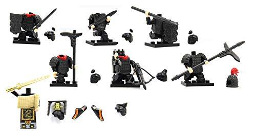 Magma Brick Antiguo Conjunto de Armadura y Equipo Chino de la Dinastía Qin Compatible con la Figura de los Legos.