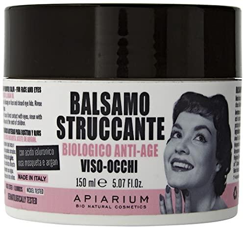 Apiarium Bio Natural Cosmetics Balsamo Struccante Biologico Anti-Age Viso- Occhi, Fucsia, 140 ml