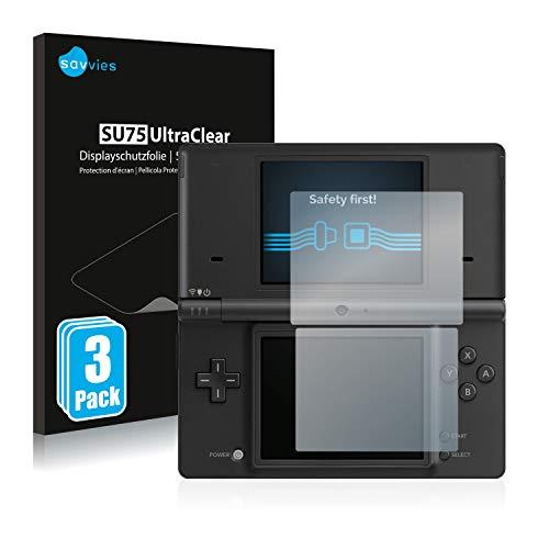 Savvies 6X Schutzfolie kompatibel mit Nintendo DSi Displayschutz-Folie Ultra-transparent