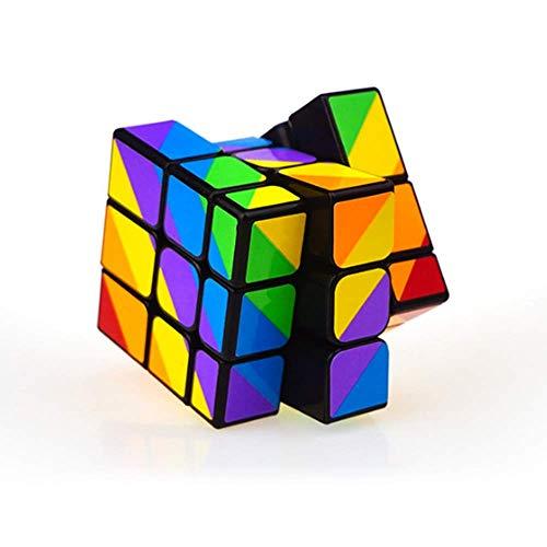 陽光の道 3x3 不規則スピードキューブ 3x3x3 異形マジックキューブ 競技用 立体パズル キューブパズル 知育玩具 脳トレ ストレス解消キューブ グッズ 暇つぶし カラーシール 6歳以上適合します