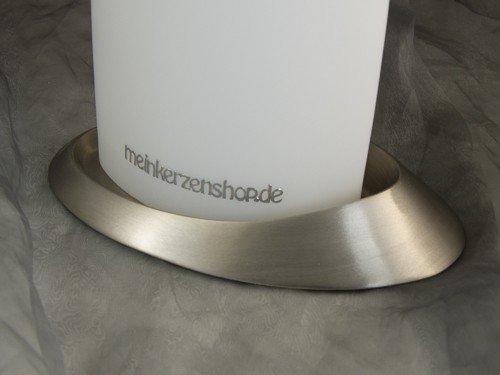 Kerzenteller Kerzenständer Kerzenhalter Hochzeitskerze Taufkerze Silber Gold 16598, Farbe:Silber
