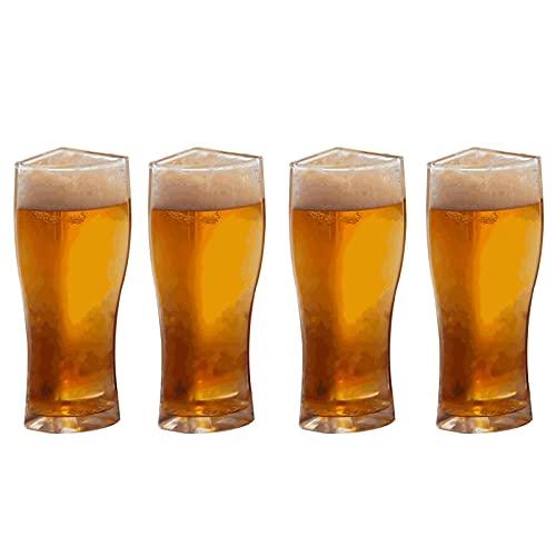 Vaso de cristal 1 juego de vasos de cerveza Super Schooner, creativo, separable, 4 piezas, taza de cerveza gruesa, taza de cristal de gran capacidad, transparente (color: L)
