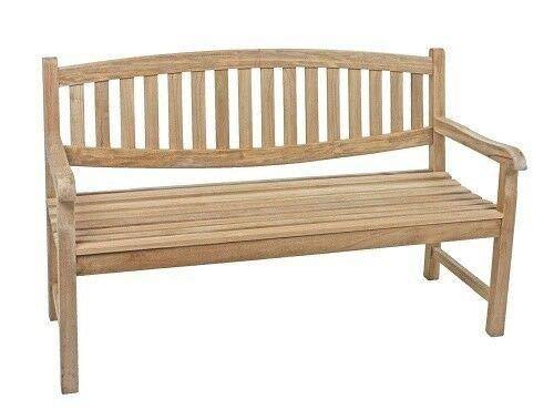 VARILANDO® 3-Sitzer Gartenbank Limbo aus unbehandeltem Teak-Holz