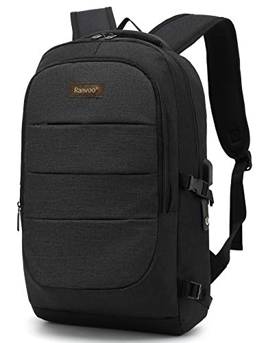 Travel Laptop Backpack Water Resistant Anti-Theft Bag with USB Charging Port Business Backpacks for Women Men College School Student Gift