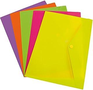 Grafoplás 04871661 ? Carpetas sobre plástico brillante ? 12 unidades tamaño folio color amarillo fluor