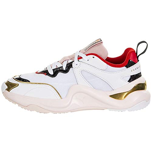 PUMA Womens Rise x Charlotte Olympia Casual Sneakers, White, 5.5
