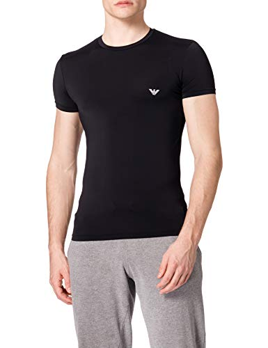 Emporio Armani Underwear T-Shirt Mesh Microfiber, Nero, M Uomo