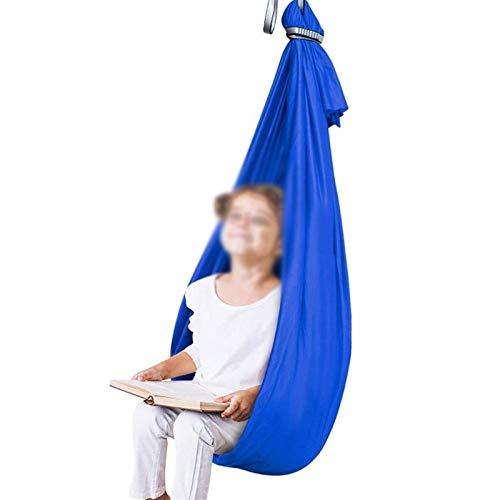 LICHUXIN Columpio sensorial de interior para niños con autismo TDAH y terapia Aspergers para niños con necesidades especiales terapia sensorial (color: azul, tamaño: 100 x 280 cm)