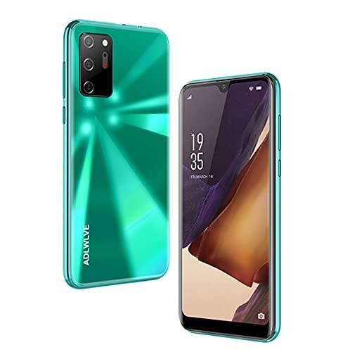 Teléfono Móvil Libres 4G, Android 9.0 Smartphone Libre, 6.3' HD, 3GB + 16GB, Cámara 8MP, Batería 4300mAh, Smartphone Barato Dual SIM, Face ID Moviles Baratos y Buenos -2*SIM+1*SD- (Verde)