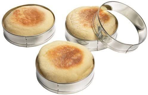 English Long Beach Mall Muffin Rings Crumpet Biscuit Tinplated Molds Egg Cookie Safety and trust