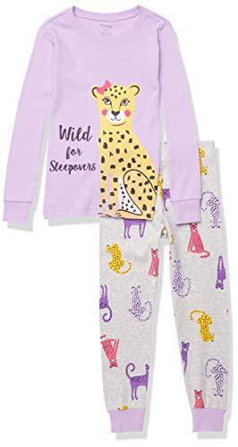 Petit Lem Girl 2Pc Pj Set: L/S Top and Pant Knit, 701 Lt. Purple, 5