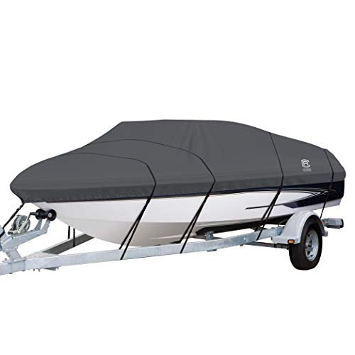 Classic Accessories StormPro Boat Cover (Grey, 20' - 22' L Up to 106' W)