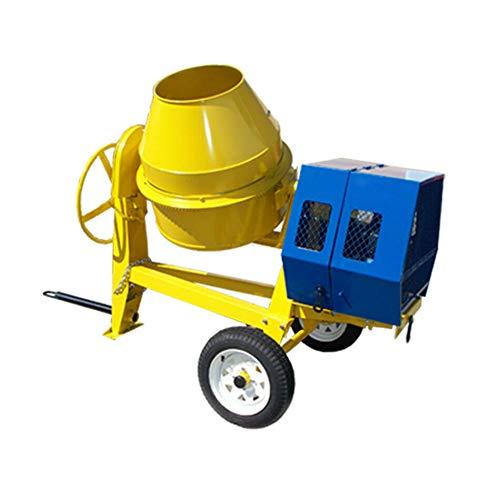 13 HP Towable 9 CF Cubic Cement Mixer 12V Gasoline 55 MPH Concrete