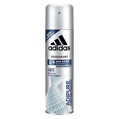 Adidas - Déodorant Anti-Transpirant pour Homme Adipure - 100% Performant - Anti-Traces Blanches - Protection 48 Heures - Xl 200ml