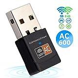 iAmotus Adattatore WiFi AC 600Mbps Mini Chiavetta WiFi Antenna Dual Bande 5.8GHz/2.4GHz Compatibile con Windows XP/Vista / 7/8 / 10, Ubuntu Linux, Mac OS X 10.6-10.14