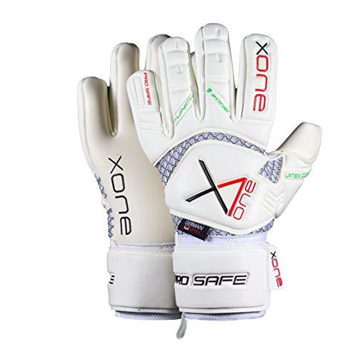 X One PRO Safe - Guantes de portero (talla 10), color blanco