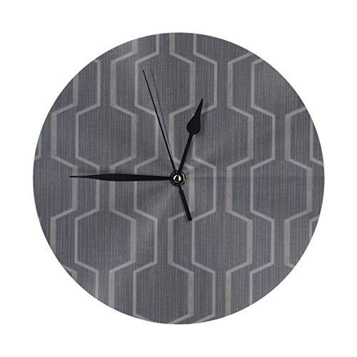 Uliykon Runde Wanduhr Prism Harrison rechteckig Geo dunkelblau leise nicht tickend Home Art dekorative Uhren Quarz leise Schreibtischuhr für Zuhause